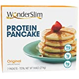 PROTEIN PANCAKE MIX: Start your day right with this healthy twist on a breakfast classic, packed with 12g protein and 5g fiber, you'll feel full and satisfied between meals. LIGHT AND FLUFFY: Simply add 2oz water to one packet of mix to create light ...