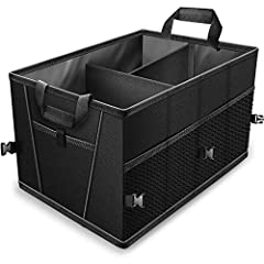 """3 Adjustable compartments and 5 side pockets. Dimensions: 15.1 x 10.1 x 21.2"""" Inches. Adjustable - can expands to fit your trunk. Conveneintly folds and unfolds for easy storage. Universal fit for any cary, truck, van or suv."""