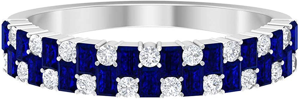 Max 84% OFF 1 2 CT Blue Sapphire Ring Great interest C Shape Stone Baguette 4