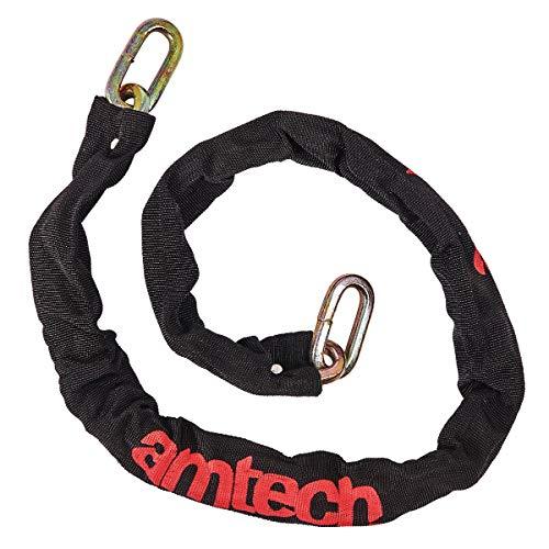 Amtech - Catena a maglia quadra con rivestimento in nylon, 100 mm x 120 cm