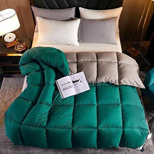 Goodlife-1 Edredón de Plumas de Ganso Natural Edredón de plumón de Ganso Blanco de Invierno para Mantenerse cálido y Acogedor, edredón Doble antialérgico-150x200cm-3kg_mi