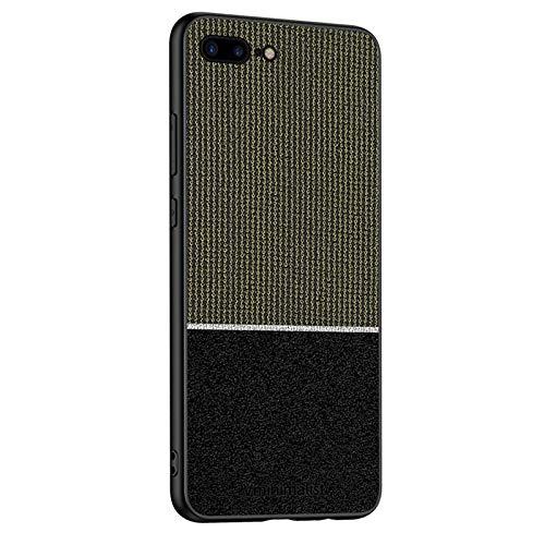 MOONCASE Funda para iPhone 7 Plus, Funda Tela Funda Protectora Carcasa Ultrafina Color Mezclado Marco de Silicona TPU Absorción de Golpes Cubierta para iPhone 8 Plus - Amarillo