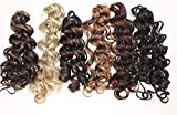 Magic Touch Loose Wave Curl Braid Weave Extensions 21' Toyokalon 5 Packages F1B/130 Off Black Frosted Copper Red