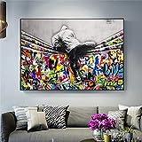 WTYBGDAN Banksy Art Kinderliebhaber hinter dem Vorhang