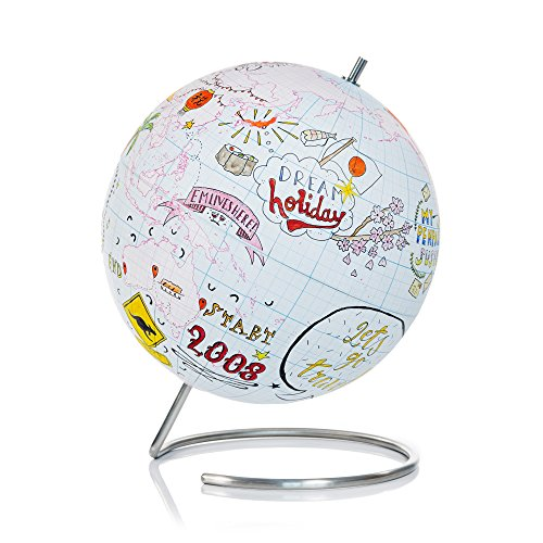 SUCK UK Large Globe Journal - Globo terráqueo de papel