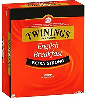 Twinings Extra Strong English Breakfast Tea Bags 80s