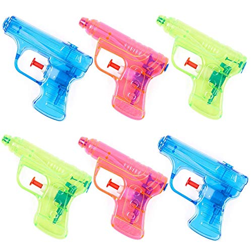 THE TWIDDLERS 20 Pistole ad Acqua in 4 Colori Assortiti - Regali per Bambini