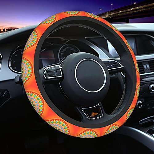 210 Costa Rican Culture Car Steering Wheel Cover Car Anti-Skid Durable Automotive Interior For Men and Women 15inches