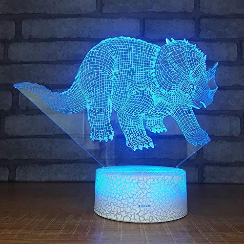 Produit Entier De Création LED Tête De Lit En Acrylique De Lampe De Bureau De Base Décorative 3D Coloré Nuit Lampes De Table De Lumière Pour Le Salon