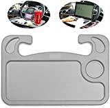 Car Steering Wheel Food Tray for Eating,Cars Seat Table Lap Trays for Adults Eating,Car Men Must Haves Cool Gadgets Interior Accessories(Gray)