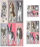 OMAJIG - Juego de toallas decorativas de lujo para perros, 3 piezas, 1 toalla de baño+1 toalla de mano+1 toalla, multiusos para baño, hotel, gimnasio, spa y cocina