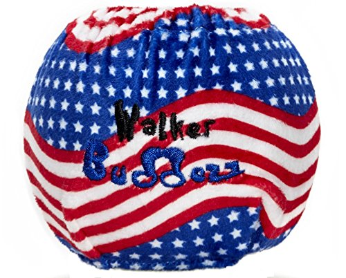 Walker Buddezz SKNZZ Fun Customization Set for Mobility Devices, Walkers, Crutches, Canes and Rollators - Flag (2 Covers)