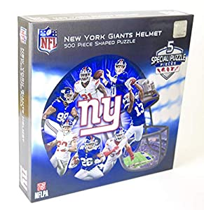New YorkNew York Giants Helmet Shape Puzzle 500 Pieces.