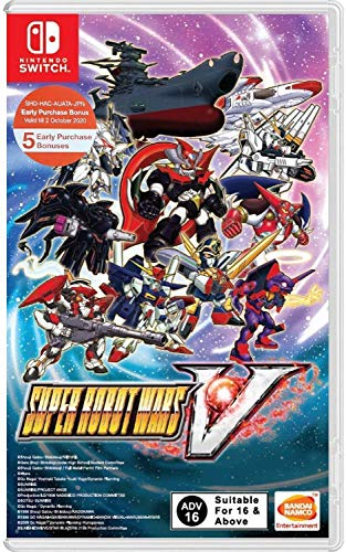 Namco Bandai Super Robot Wars V (Game in English) Nintendo Switch vídeo Juego