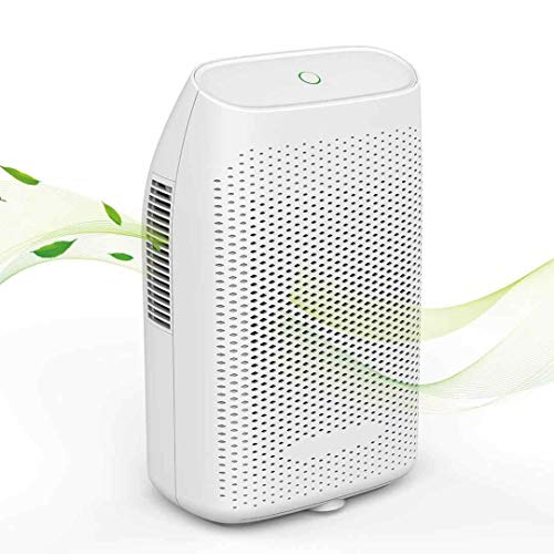 HHSUC Dehumidifier Electric Mini Home Dehumidifiers for Bedroom Auto Shutoff Ultra Quiet, 2200 Cubic Feet, Compact and Portable for Kitchen, Bedroom, Caravan, Bathroom (White)