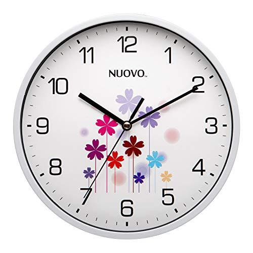 NUOVO Orologio da Parete per Bambini Fiore Decorativo Silenzioso AntiGraffio azionato per Cucina Soggiorno Camera da Letto Camera dei Bambini (Fiore, 20 cm / 8')