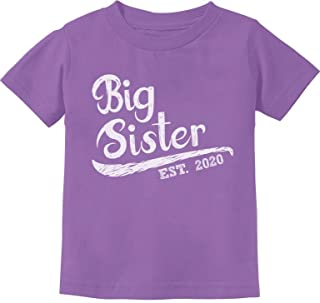 Big Sister Est 2020 - Sibling Gift Idea Toddler Kids T-Shirt
