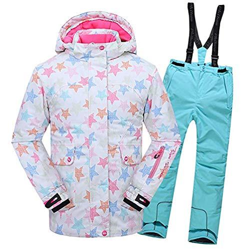 AZUOYI kinderski-pak bedrukt ski-pak winter outdoor waterdicht winddicht dikke snowsuit snowboard skiën outfit set ski-jas ski broek set