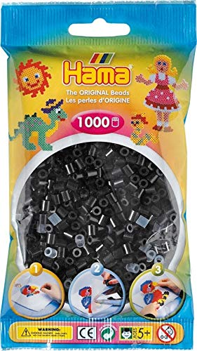 Hama 1 000 Perles Standard MIDI (Ø5 mm) Noir