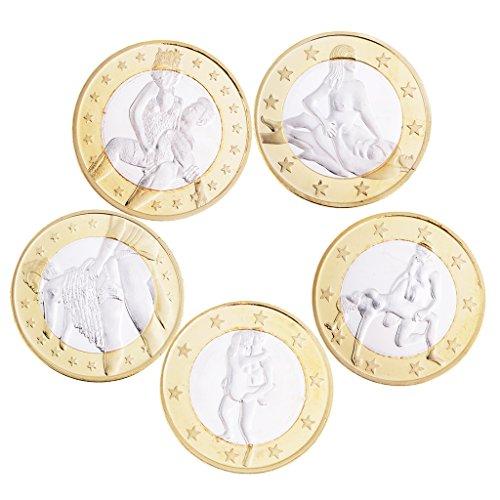 HomeDecTime 5pcs / Pack Love Coins Toy Juego de Roles Love Toys Monedas Conmemorativas Juguete # 1