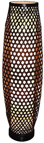 Lámpara De Pie, Sala De Estar De Bambú De Estilo Chino, Sala De Estudio, Lámpara De Pie De Dormitorio, Creative Bamboo Art Villa, Decoración Clásica, Tamaño : 25 * 100 Cm,A2