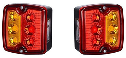 2 x Lampe LED feu arrière 12 V 24 V avec de d'immatriculation éclairage plaque minéralogique E marque contrôle voiture camion