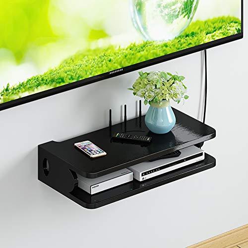 SLMY TV muur rekken massief hout router opslag muur opknoping plank woonkamer slaapkamer set-top box rekken gratis ponsen ecologisch sterk Modern design Medium B