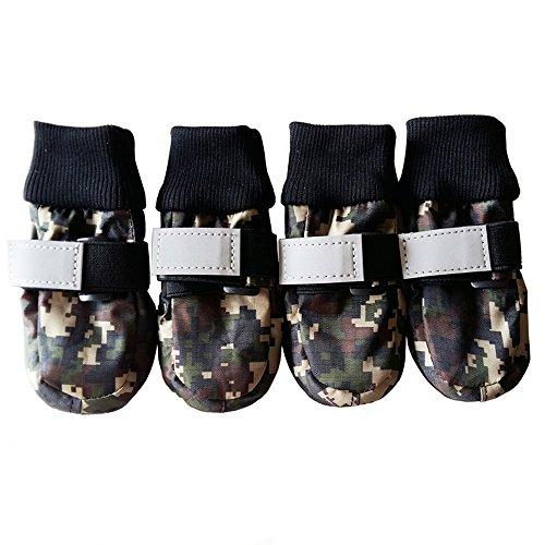 Ecloud Shop® Paw Protectors Zapatos para Perros Botas para Perros Botas Antideslizantes...
