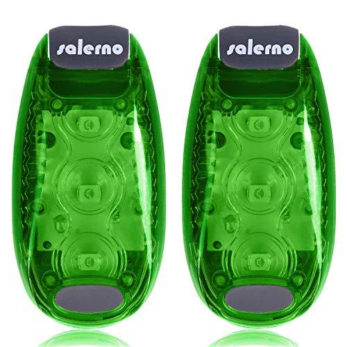 Salerno(サレルノ) ストロボ発光! LED セフティー クリップ ライト ランニング 自転車 散歩 ウォーキング ...