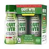 Quit WTR Stop Smoking Remedy to Help Quit Smoking | Quit Water Shots, Stops Cravings, Natural, and Nicotine-Free, Drug-Free - 24/7 Craving Relief Support (4 Pack / 16 Detox Shots, Original Blend)