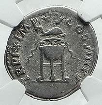 80 IT TITUS Authentic Ancient 80AD Original Roman Denar Denarius VF NGC