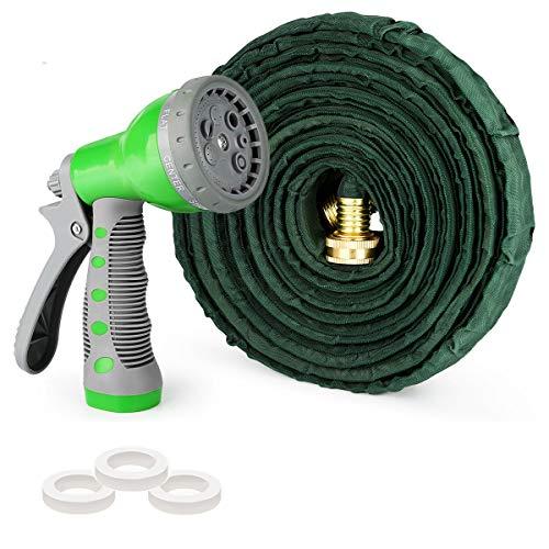 AUTOXEL Expandable Garden Hose,50 ft Leakproof Lightweight Garden Water Hose High Pressure Hose Spray