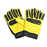 BB Sports - Guantes de portero de fútbol básicos para niños (9-14 Años) (Amarilo/Negro)