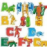 KESOTO Bloque de Alfabetos de Animal / Robot para Aprendizaje Creativa de Letras, Regalos para niños