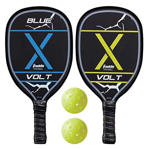 Franklin Sports Pickleball Paddles and Pickleballs Set - 2 Wood Paddles and X-40 Balls - USAPA Approved