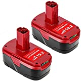 2Packs 19.2V 6.0Ah C3 Replacement Battery Compatible with Craftsman 19.2 Volt Battery Lithium-ion XCP DieHard 315.115410 315.11485 130279005 1323903 120235021 11375 11376 Cordless Tools Title