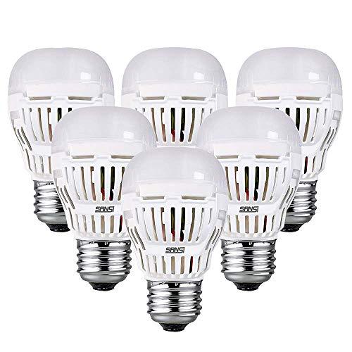 LED E27 Kaltweiss Lampe 9W-SANSI Led Leuchtmittel(ersetzt 100W Edison Glühbirne) 900lm Super Hell Led Birne für Nachttischlampe, Stehlampe,Hängelampe,Deckenleuchte,Pendelleuchte,Nicht Dimmbar,6er Pack