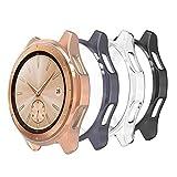 Hianjoo 4 Piezas Funda Compatible con Samsung Galaxy Watch 42mm, Suave Cubierta TPU Silico...