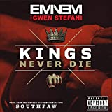 KONGQTE Eminem Music Album Kings Never Die (2015) Cover Poster Wall Art Canvas Print Painting Living Room Home decoration-24x24 inch No Frame(60x60cm