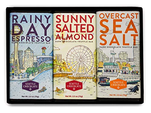 Seattle Chocolates Seasons Bar Trio 3 x 2.5 oz