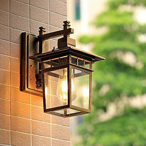 Lámpara de pared retro Lámpara de pared antigua para exteriores E27 Lámpara...