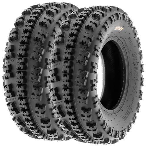 Set of 2 SunF A027 XC ATV UTV Knobby Sport Tires 22x7-10, 6 PR, Tubeless