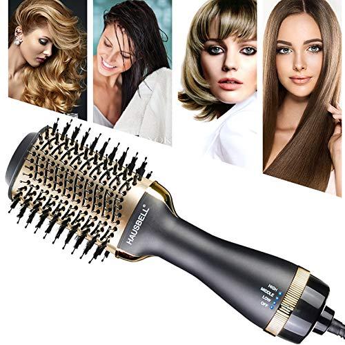 HAUSBELL Hair Dryer Brush, Hot Air Brush, Multifunctional Hair Dryer and Volumizer, Negative Ions Blow Dry Brush for Hair Dryer, Straightener, Curler and Styler, Brush Hair Dryers, Blow Dryer Brush