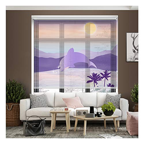 ZXD Aluminum Venetian Blind, Home Office Anti-glare Pleated Blind With Pull Bead Control Punch-free For Wall And Ceiling Mounting (Color : A, Size : 80x150CM)