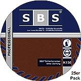 De 25de SBS Velcro discos Ø 225mm para lijadora (grano 150lijadora jirafa