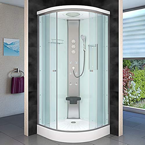 AcquaVapore DTP10-1001 Dusche Duschtempel Duschkabine Fertigdusche 90x90cm JA mit 2K Scheiben Versiegelung