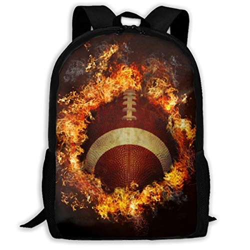 Cool Fire Football Unique Outdoor Shoulders Bag Fabric Backpack Multipurpose Daypacks for Adult