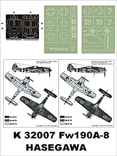 Montex Super Mask 1:32 Fw-190 A8 for Hasegawa Kit #1 Spraying Stencil #K32007