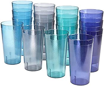 16-Count Acrylic Cafe Plastic Restaurant Quality Beverage Tumblers Set