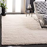 SAFAVIEH California Premium Shag Collection SG151 Non-Shedding Living Room Bedroom Dining Room Entryway Plush 2-inch Thick Area Rug, 6'7' x 9'6', Ivory